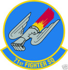 STICKER USAF  71ST FIGHTER SQUADRON
