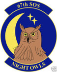 STICKER USAF  67TH SPECIAL OPERATIONS SQUADRON