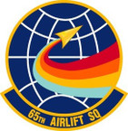STICKER USAF  65TH AIRLIFT SQUADRON