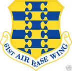 STICKER USAF  61ST AIR BASE WING