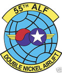 STICKER USAF  55TH AIRLIFT SQUADRON