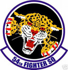 STICKER USAF  54TH FIGHTER SQUADRON DECAL