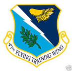 STICKER USAF  47TH FLYING TRAINING WING