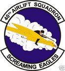 STICKER USAF  40TH AIRLIFT SQUADRON