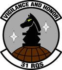 STICKER USAF  31ST RESCUE SQUADRON