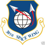 STICKER USAF  30TH SPACE WING