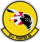 STICKER USAF  27TH FIGHTER SQUADRON LEFT