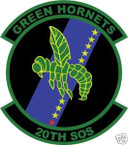 STICKER USAF  20TH SPECIAL OPERATIONS SQUADRON