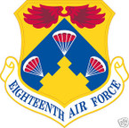 STICKER USAF  18TH AIR FORCE