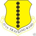 STICKER USAF  17TH TRAINING WING