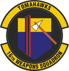 STICKER USAF  16TH WEAPONS SQUADRON