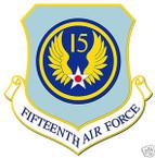 STICKER USAF  15TH AIR FORCE