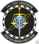 STICKER USAF  14TH TEST SQUADRON