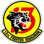STICKER USAF  13TH FIGHTER SQUADRON
