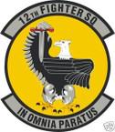 STICKER USAF  12TH FIGHTER SQUADRON