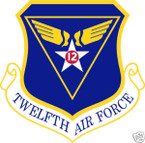 STICKER USAF  12TH AIR FORCE