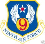 STICKER USAF   9TH AIR FORCE