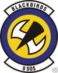 STICKER USAF   8TH SPECIAL OPERATIONS SQUADRON