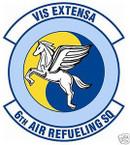 STICKER USAF   6TH AIR REFUELING SQUADRON