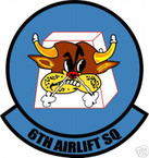 STICKER USAF   6TH AIRLIFT SQUADRON