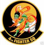 STICKER USAF   4TH FIGHTER SQUADRON F-16 FALCON