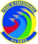 STICKER USAF   4th AXMS