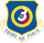 STICKER USAF   3RD AIR FORCE