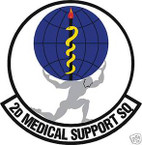 STICKER USAF   2ND MEDICAL SUPPORT SQUADRON