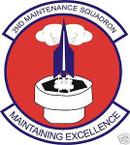 STICKER USAF   2ND MAINTENANCE SQUADRON