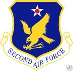 STICKER USAF   2ND AIR FORCE