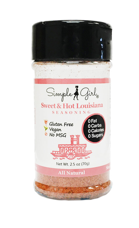 Simple Girl Sweet & Hot Louisiana Seasoning (Sugar-Free, Oil-Free, All-Natural)
