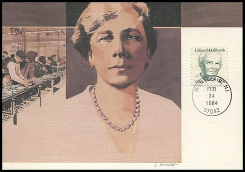 1868 / 40c Lillian M. Gilbreth 1984 Fleetwood First Day of Issue Maximum Card