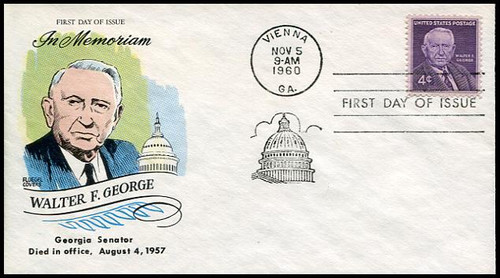 1170 /  4c Walter F. George 1960 Fluegel First Day Cover
