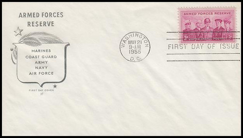 1067 / 3c Armed Forces Reserve House of Farnam 1955 First Day Cover