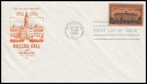 1083 / 3c Nassau Hall : Princeton University 200th Anniversary House Of Farnam 1956 First Day Cover