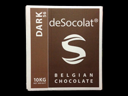Desocolat Dark Belgium Chocolate Buttons 56% 10kg bulk box.