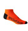 Aero Tech Coolmax Made in USA Low Rise Cycling Sock in Orange