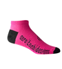 Aero Tech Coolmax Made in USA Low Rise Cycling Sock in Pink