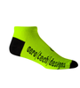 Aero Tech Coolmax Made in USA Low Rise Cycling Sock in Safety Yellow