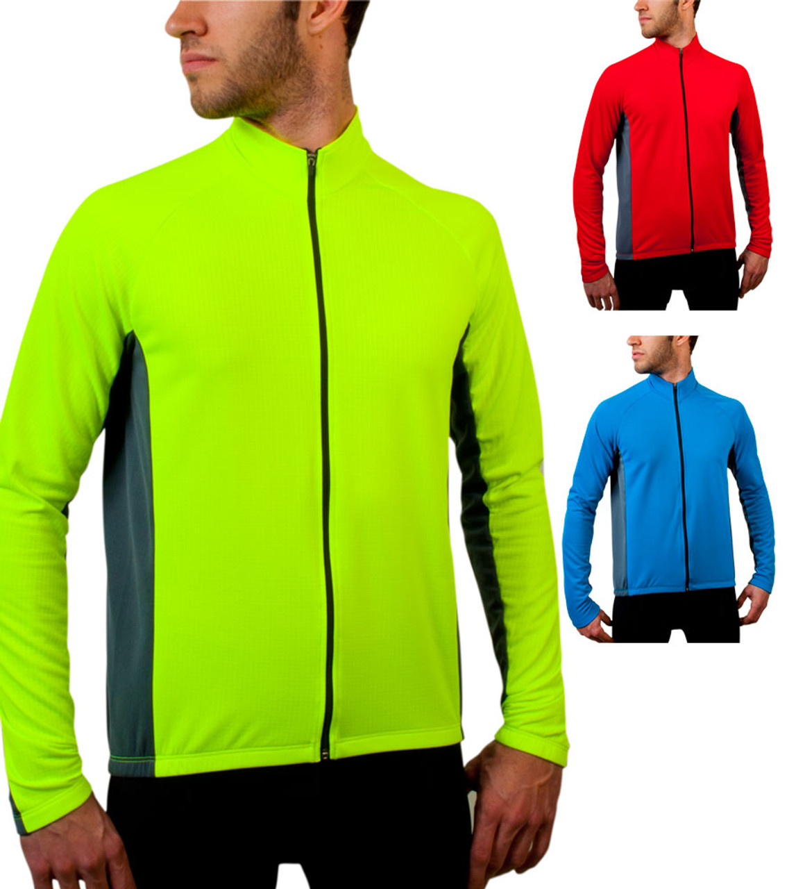 Big Men S Formaggio Long Sleeve Cycling Jersey