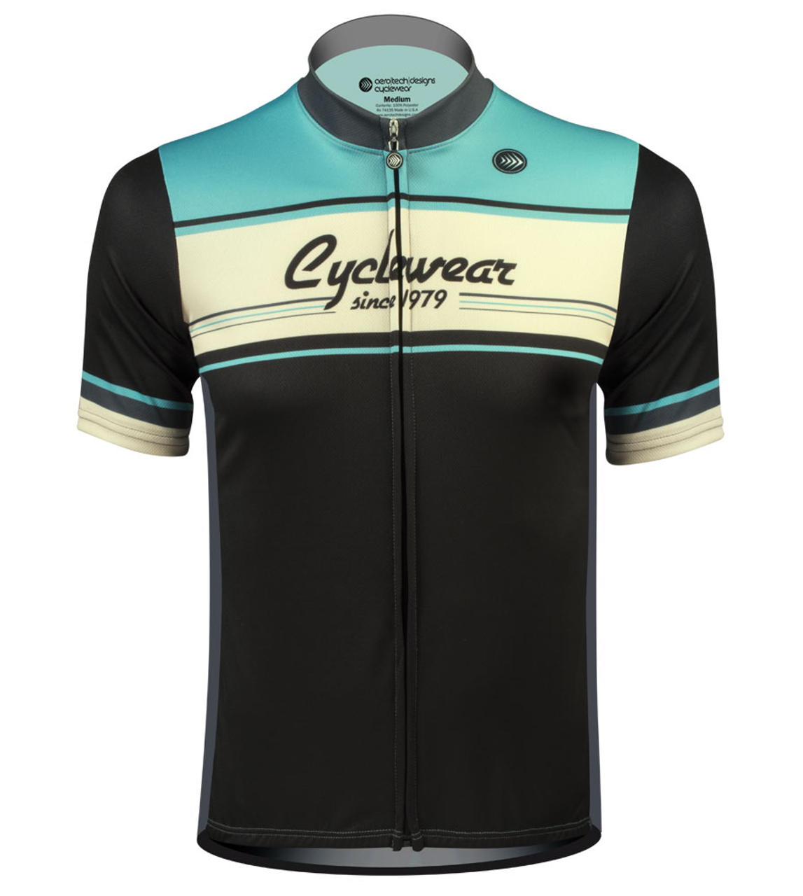 ATD Designer Retro Active Cyclewear Biking Jersey In Celeste - Two cycling kits worst designs ever