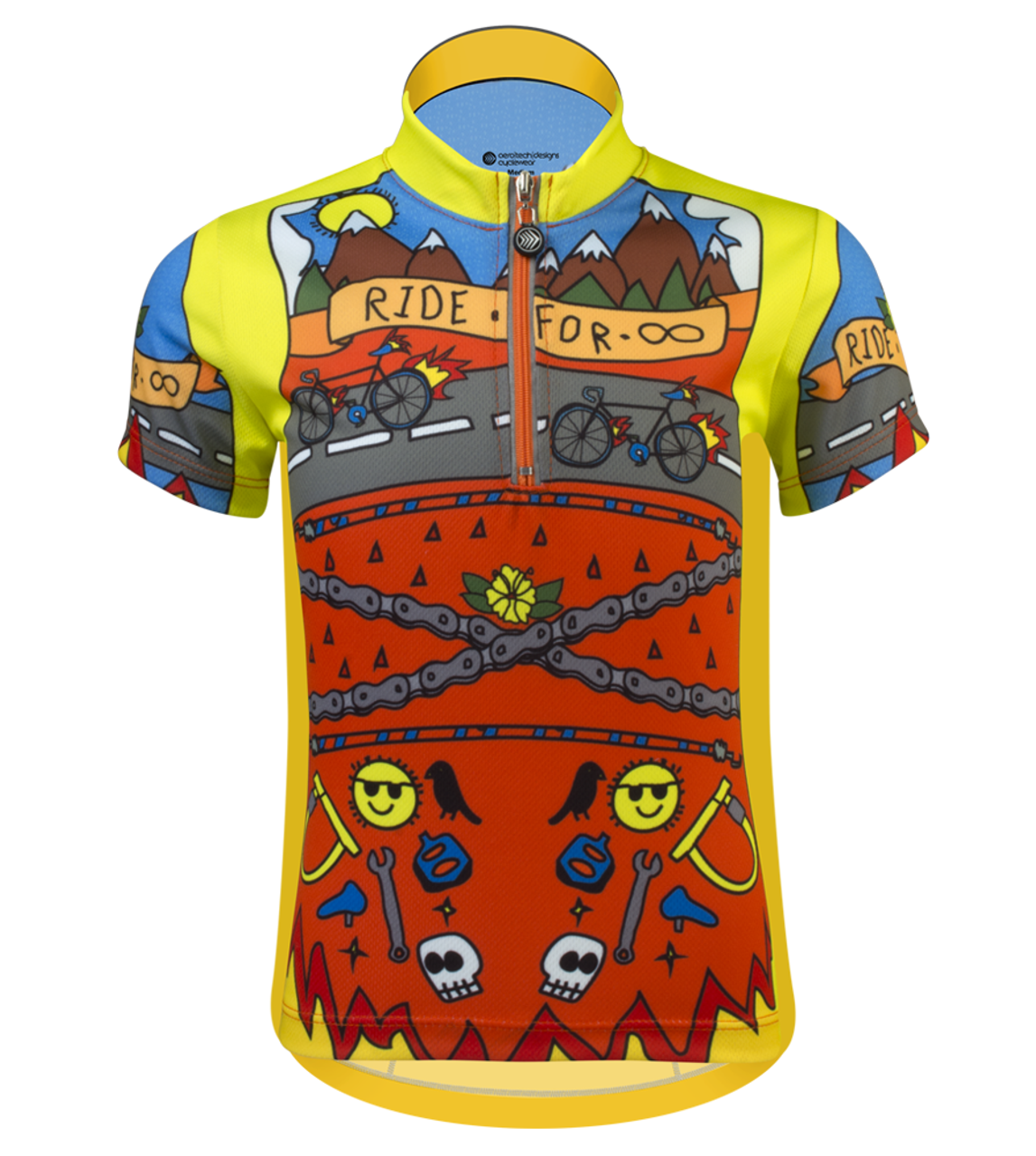 Aero Tech Youth Team Jersey Ride For Infinity Printed Cycling - Two cycling kits worst designs ever