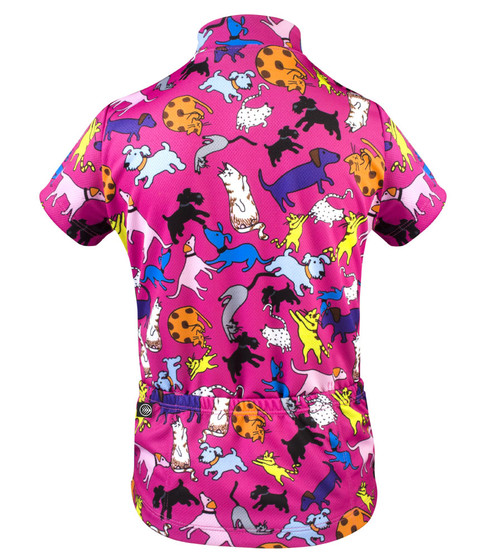 ATD Childs Designer Cycling Jersey Its Raining Cats And Dogs Pink - Two cycling kits worst designs ever