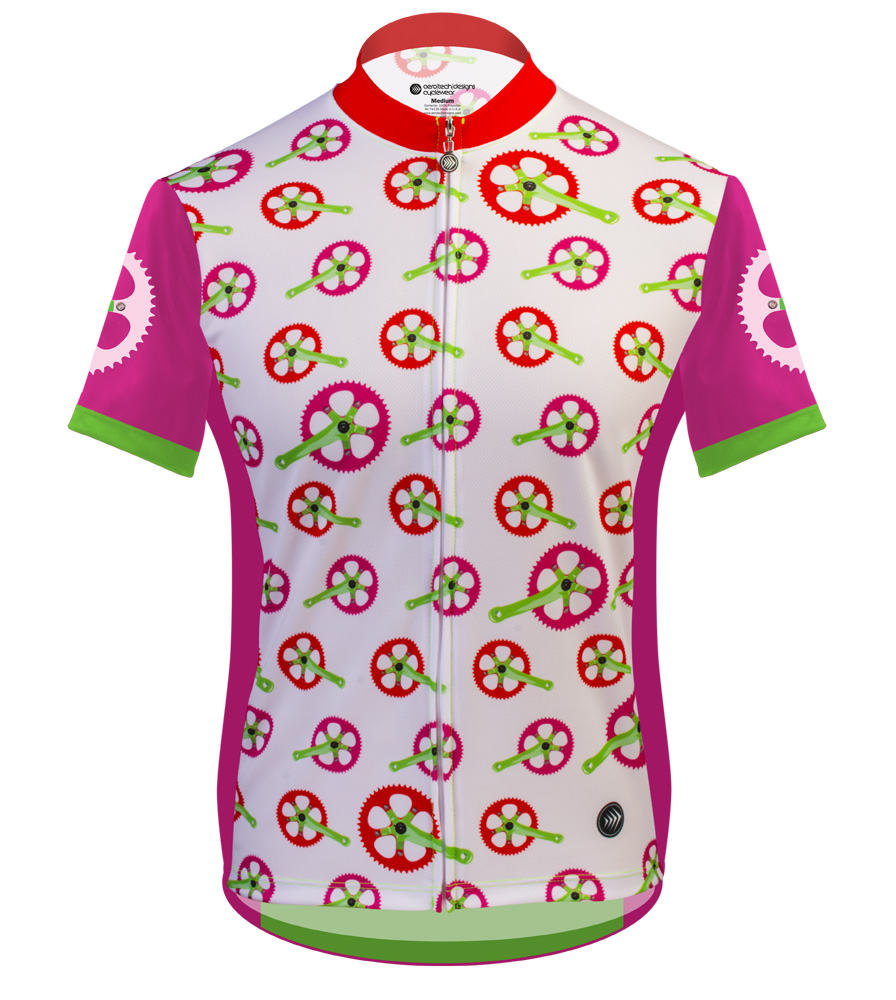 Fun Womens Cycling Jersey Strawberry Fields Full Zip Womens - Two cycling kits worst designs ever
