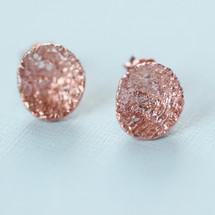 Tina Kotsoni - Rose Gold Plated Stud Earrings