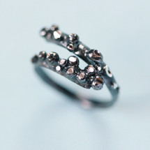 Tina Kotsoni - Oxidised Sterling Silver Octopus Tentacles Adjustable Ring