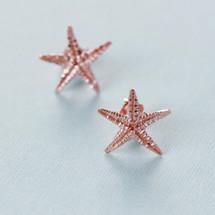 Tina Kotsoni - Rose Gold Starfish Stud Earrings