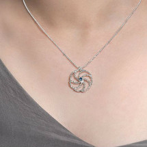 ASTERIAS starfish silver textured Necklace