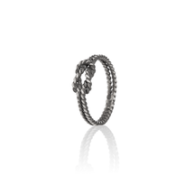 BOND Oxidised Silver Ring