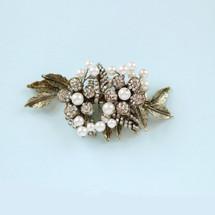 Ripley antique gold bridal hair clip